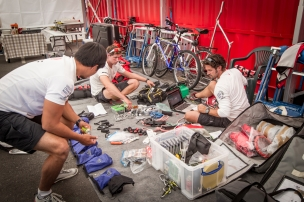 November 17, 2014. In the Boatyard; Dongfeng Race Team preparing for Leg 2.
