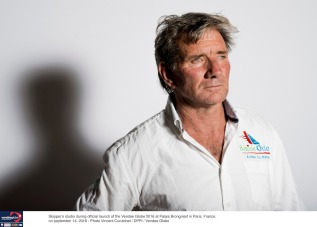 Skipper's studio with Kito de Pavant (FRA), skipper Bastide Otio, during official launch of the Vendee Globe 2016 at Palais Brongniart in Paris, France, on september 14, 2016 - Photo Vincent Curutchet / DPPI